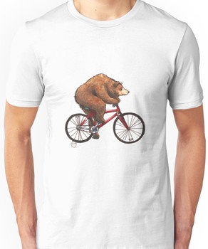 Bear on a Bike Unisex T-Shirt