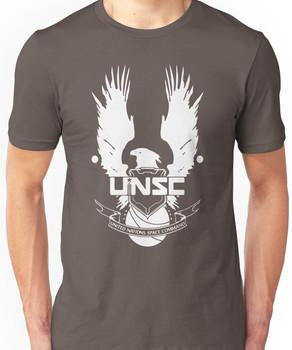 UNSC LOGO HALO 4 - CLEAN LOGO IN WHITE Unisex T-Shirt