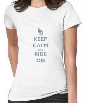 Keep Calm and Ride On Horseback Riding Women's T-Shirt