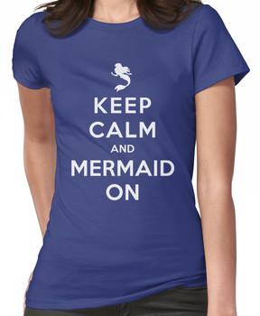 Keep Calm and Mermaid On (dark shirt) Women's T-Shirt