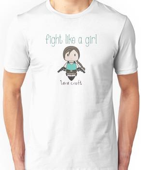 Fight Like a Girl - Tomb Girl Unisex T-Shirt