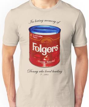 In Loving Memory of Donny Who Loved Bowling pop art variant 1 Unisex T-Shirt