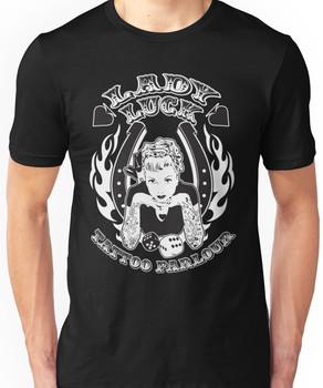 Lady Luck Tattoo Parlour Unisex T-Shirt