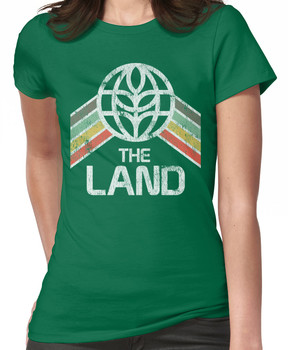 The Land Logo Distressed in Vintage Retro Style Women's T-Shirt