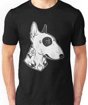 Tattooed Bullterrier Unisex T-Shirt