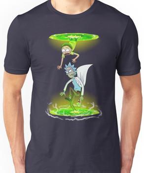 Rick and Morty (Portals) Unisex T-Shirt