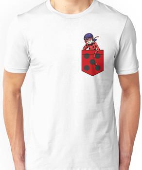 Ladybug in a Pocket Unisex T-Shirt