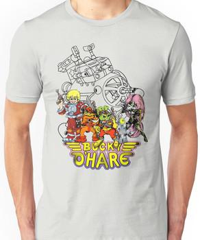 Bucky O'Hare - Logo - Group with Ship - Color Unisex T-Shirt