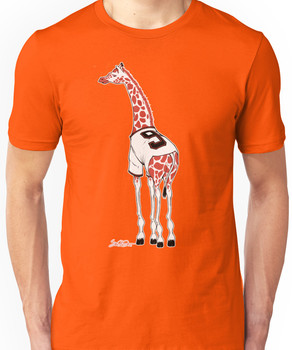 Belt Giraffe (Textless) Unisex T-Shirt