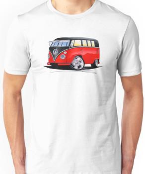 VW Splitty (11 Window) Camper (E) Unisex T-Shirt