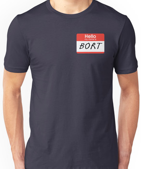 "The Simpsons ""Hello My Name Is Bort"" Shirt Unisex T-Shirt"