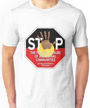 OFFICIAL MERCHANDISE - #SOSBLAKAUSTRALIA design 4 Unisex T-Shirt