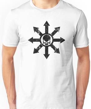 Mark of Chaos Distressed Black Unisex T-Shirt