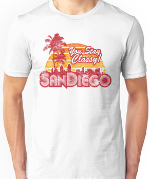 You Stay Classy! San Diego (Worn look) Unisex T-Shirt