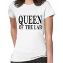 Queen of the Lab - Black Text Women's T-Shirt