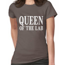 Queen of the Lab - White Text Women's T-Shirt