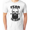 Fear The Beard Skull Shirt by Fear The Beard Unisex T-Shirt