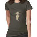 hang in there baby cute kitty cat kitten on branch  Women's T-Shirt