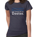 Christopher Eccleston Will Always Be My Doctor Women's T-Shirt
