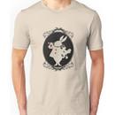 Alice in Wonderland White Rabbit Oval Portrait Unisex T-Shirt