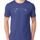 I Love My Hot Hatch (dark background) Unisex T-Shirt