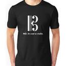 Alto Clef - NO, It's Not a Violin. (White Inverse) Unisex T-Shirt