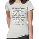 PRIDE AND PREJUDICE JANE AUSTEN MR. DARCY ENGAGEMENT SPEECH  Women's T-Shirt