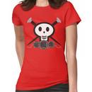 Knitting needles skull and yarn t-shirt Women's T-Shirt