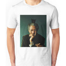 Morgan Freeman with a Cat on his Head Unisex T-Shirt