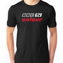 Retro BBC colour logo, as seen at Television Centre (in white) Unisex T-Shirt