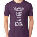 Keep Calm And Ship Swan Queen Unisex T-Shirt