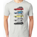 Stack of Volvo 850R 855R T5 Turbo Station Wagons Unisex T-Shirt