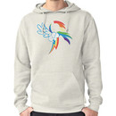 The Dash mark - WHITE Hoodie (Pullover)