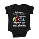 Defending Awesome - Rolling Down The Street Baby Kids Clothes
