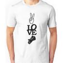 MazziMaz Tee - Peace, Love and Rubber Gloves Unisex T-Shirt