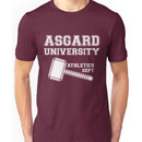 Asgard University - Athletics Department (Dark Shirt) Unisex T-Shirt