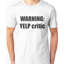 Warning Yelp Critic Tshirt / South Park Tee Cartman Butters Randy Kenny Stan Kyle Men Unisex T-Shirt