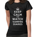 Keep Calm and Watch Vampire Diaries (DS) Women's T-Shirt