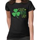 Crazy Irish Lady with green ireland shamrock Women's T-Shirt