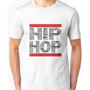 Hip Hop in White Unisex T-Shirt