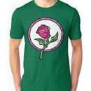 Stained Glass Rose / Beauty and the Beast Unisex T-Shirt