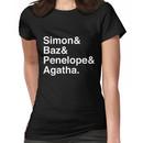 Simon Snow Carry On (First Names) White Text Women's T-Shirt