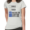 SINGLE TAKEN WAITING FOR A MAD MAN WITH A BOX Women's T-Shirt