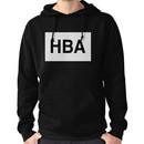 HBA Black on White Hoodie (Pullover)