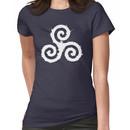 Triskelion 1 White (Splatter) Women's T-Shirt