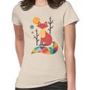 Rainbow Fox Women's T-Shirt