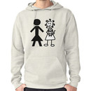 The Girl with the Curly Hair Holding Cat and NT Woman - White Hoodie (Pullover)