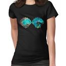 Green Galaxy Mermaid Women's T-Shirt