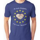 """I'm British - I voted """"Remain"""" - French Unisex T-Shirt"""