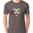 Smiling Pit Bull in White - Day of the Dead Pitbull - Sugar Skull Dog Unisex T-Shirt